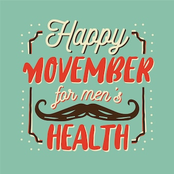 Happy movember надписи фон