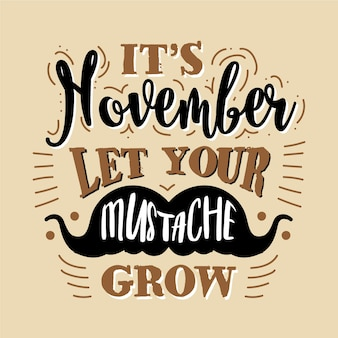 Happy movember надписи обои