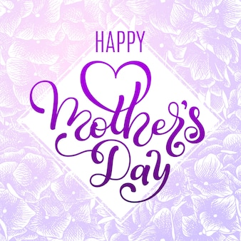 Happy moyher's day gift card with hand lettering mother's day