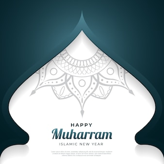 Happy muharram background