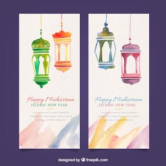 Happy muharram banners