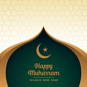 Happy muharram muslim festival in islamic style