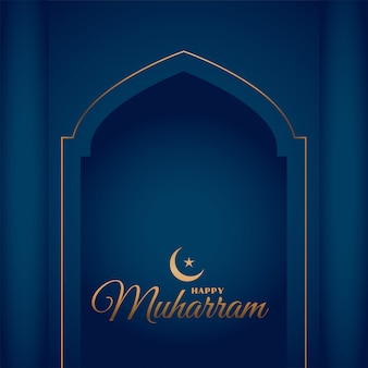 Happy muharram stylish festival islamic card design
