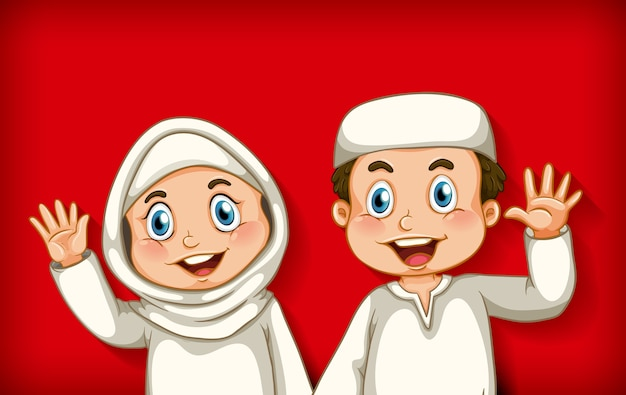 幸せなイスラム教徒のカップル