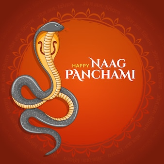 Happy naag panchami indian festival