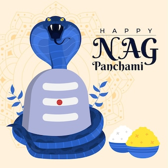 Happy nag panchami illustration