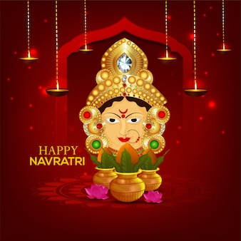 Happy navratri celebration background