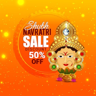 Happy navratri celebration design