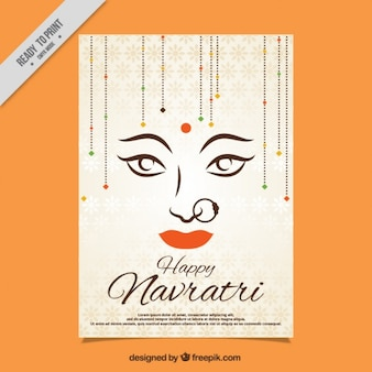 Happy navratri decorative card