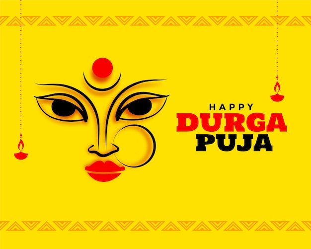Happy navratri durga pooja festival card background