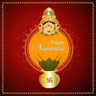 Happy navratri indian festival celebration