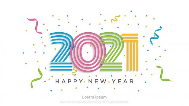 С новым 2021 годом красочный фон