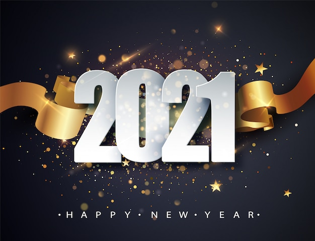 2021年おめでとう。冬の休日のグリーティングカードのデザインテンプレートです。年末年始のポスター。新年あけましておめでとうございます暗いお祭りの背景