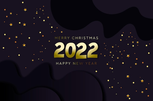 Happy new 2022 year and merry christmas constellation banner vector illustration