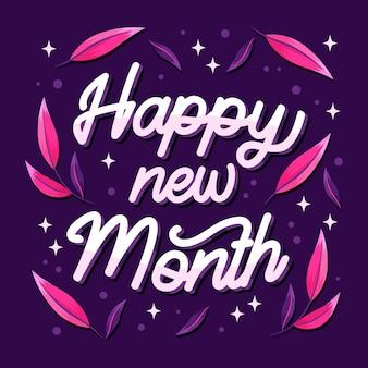 Felice anno nuovo lettering con elementi diversi