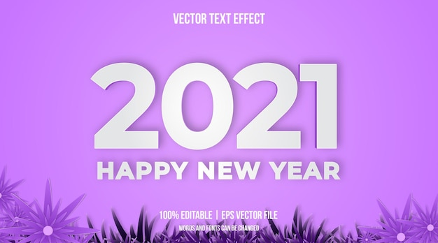Happy new yaer text effect in minimalist text style