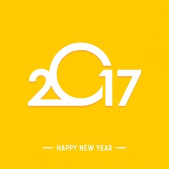 Happy new year 2017 yellow background