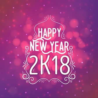 Happy new year 2018 background with lighting effect