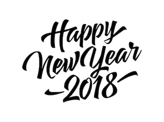 Happy New Year 2018 lettering
