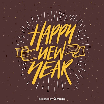 Happy new year 2019 background with fancy lettering
