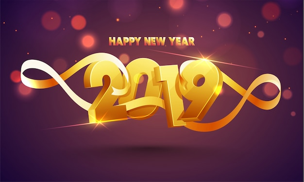 Happy new year 2019 background.