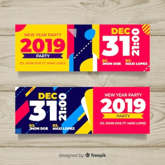 Tickets flat design pack Vector | Free Download