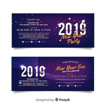 Happy new year 2019 banner