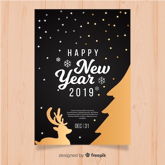 Happy new year 2019 banners