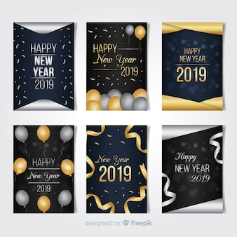 Happy new year 2019 card collection