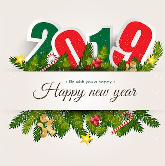 Happy new year 2019  for greeting card  background.