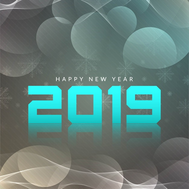 Happy new year 2019 modern vector background