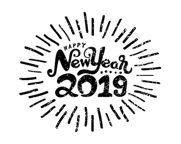Happy new year 2019 symbol.