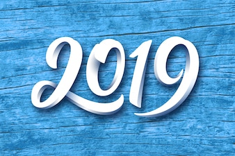 Happy New Year 2019 vector greeting card