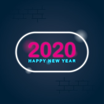 Happy new year 2020 background illustration vector