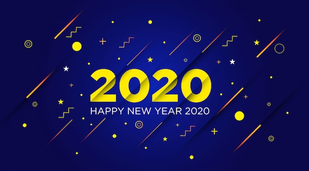 Happy new year 2020 background template