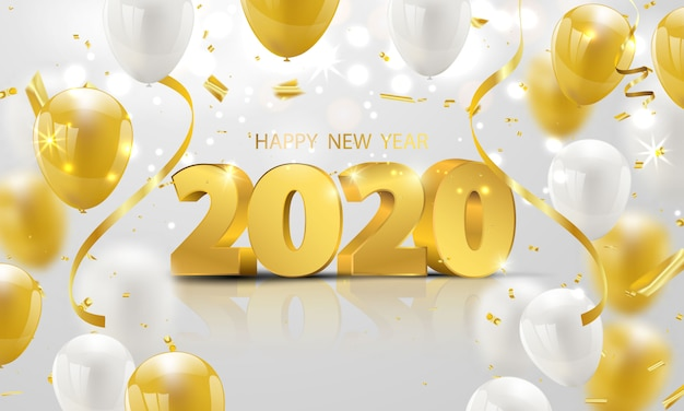Happy new year 2020 background.