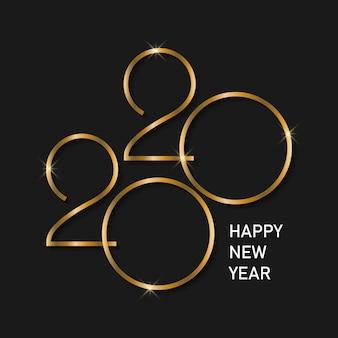 Happy new year 2020 background.