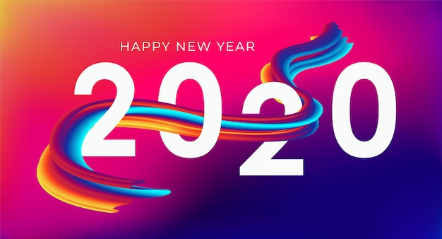 Happy new year 2020 banner