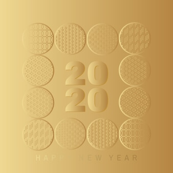 Happy new year 2020 card