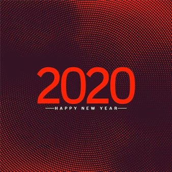 Happy new year 2020 celebration greeting background