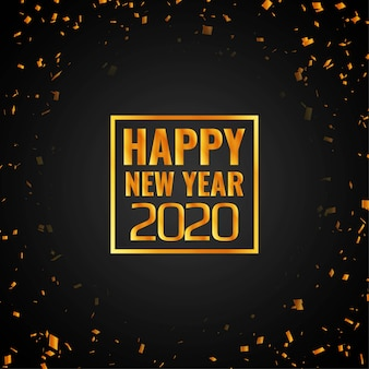 Happy new year 2020 confetti background