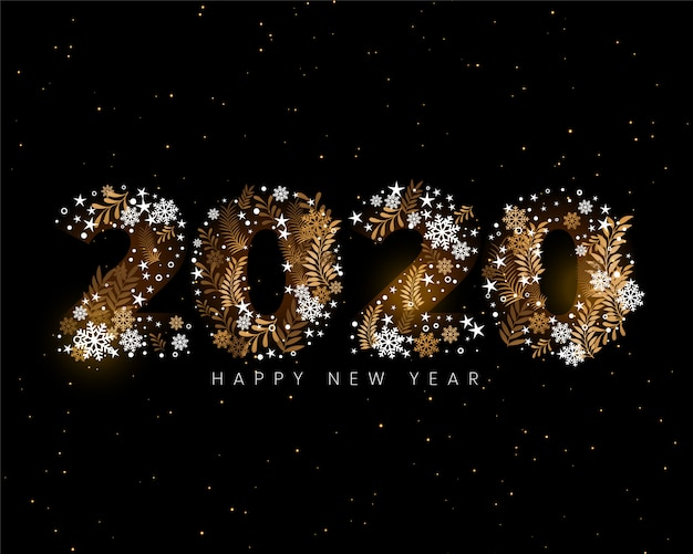 Happy new year 2020 creative decorative wallpaper