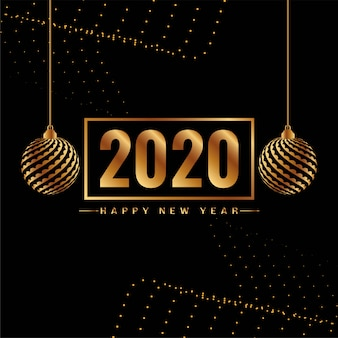 Happy new year 2020 decorative background