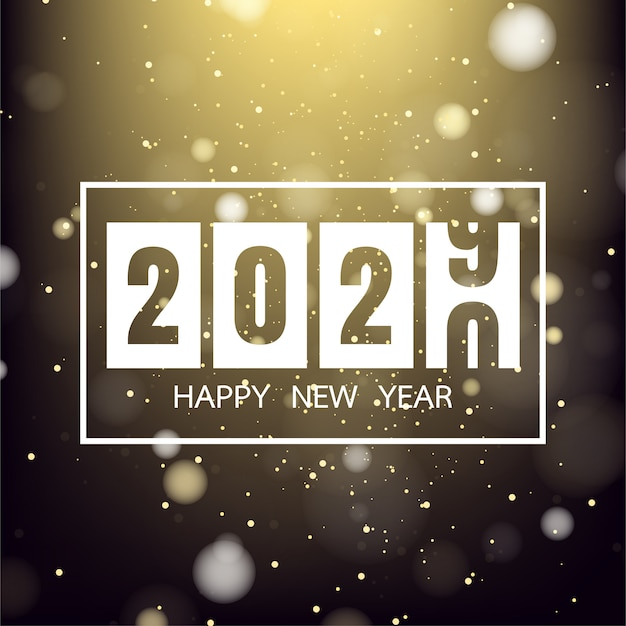 Happy new year 2020 on gold background for celebration