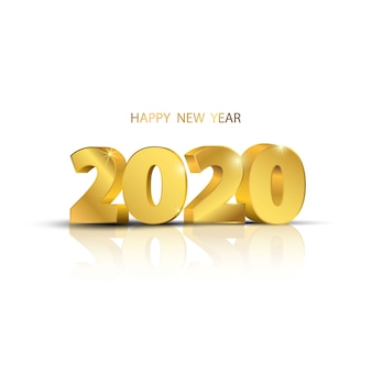 Happy new year 2020. greeting card design