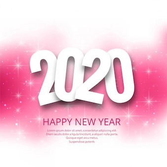 Happy new year 2020  holiday card confetti