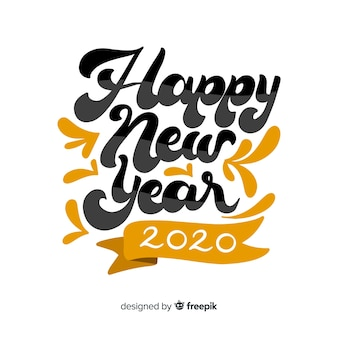 Happy new year 2020 lettering