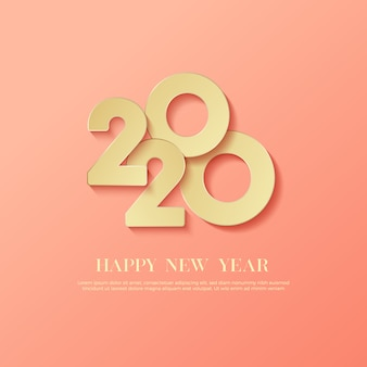 Happy new year 2020 logo text