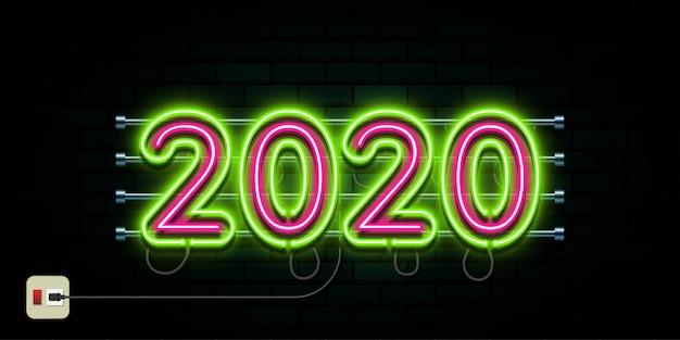 Happy new year 2020 logo text