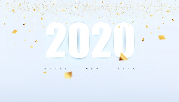 Happy new year 2020 modern abstract background party